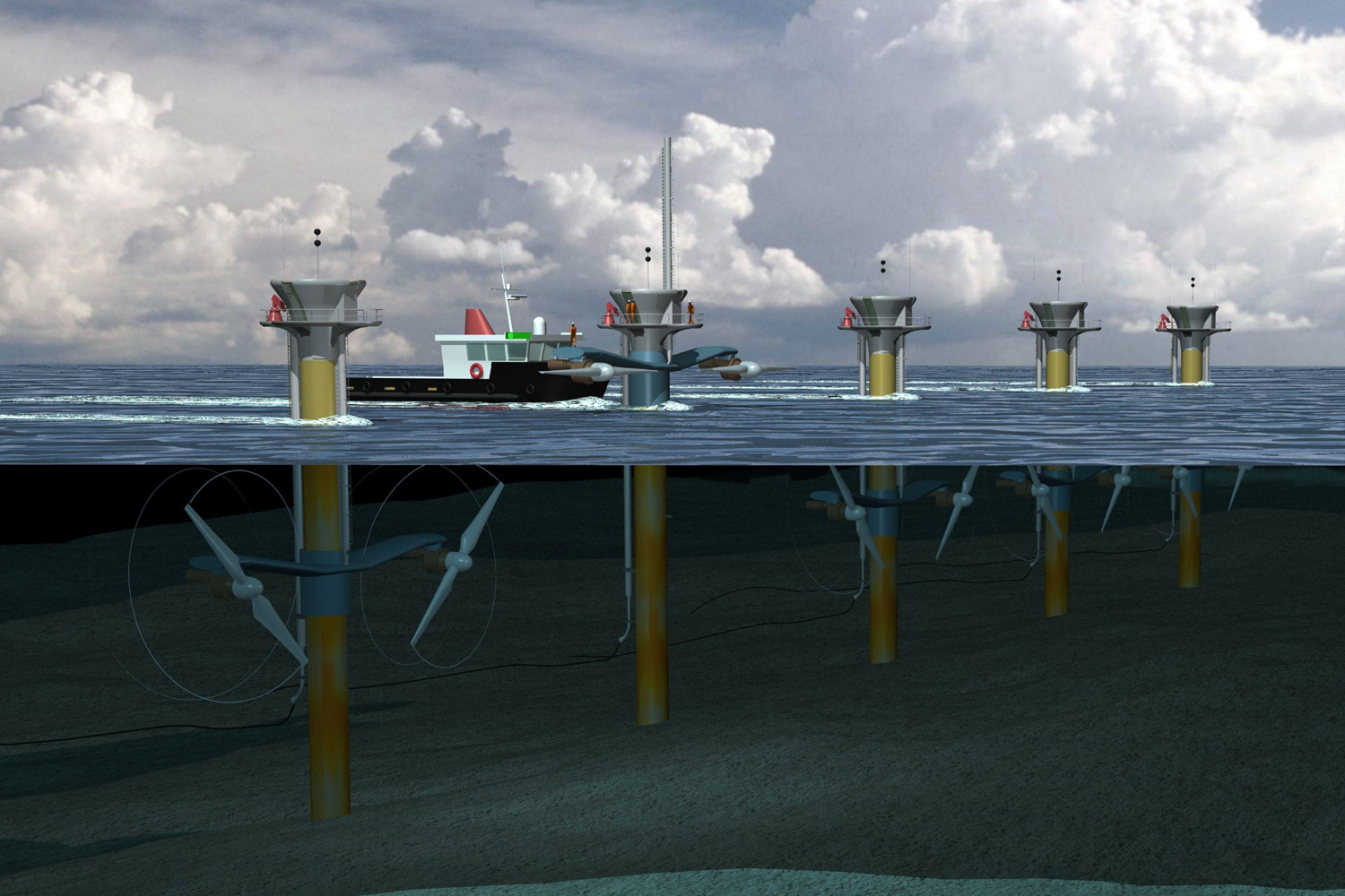First u s commercial grid connected tidal energy project