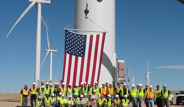 American wind power installed new record of 13,124 MW
