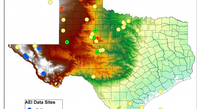 Texas wind energy map