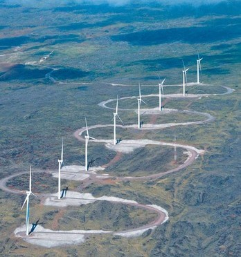 Hawaii wind farm nearly complete