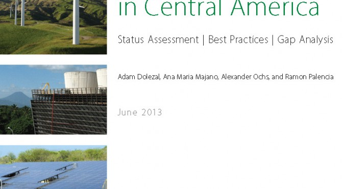 Developing a Regional Renewable Energy Roadmap for Central America