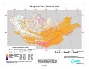 Mongolia wind energy