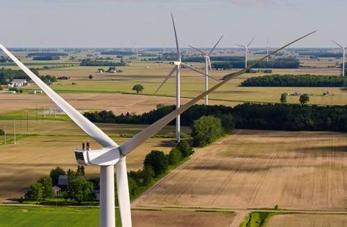 Beebe Wind Farm. Ithica, Michigan.