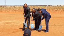 Start of construction ceremony of Bokpoort, a 50 MW concentrated solar power (CSP) plant in South Africa