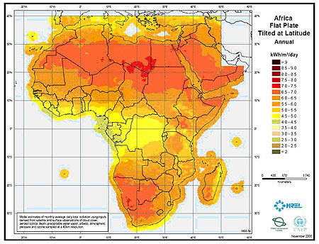 Africa Solar-Power-map