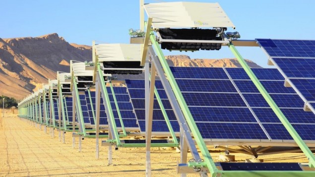 World's first self-cleaning solar power plant in Israel