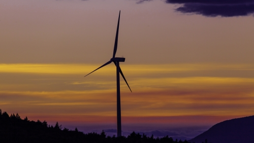 wind energy Sunset