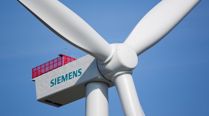 Prototyp der Siemens 4-Megawatt-Windturbine / Protype of the Siemens 4 megawatt wind turbine