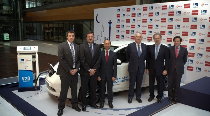 Nissan, Endesa to tap V2G (vehicle to grid) technology from electric vehicles for use in homes