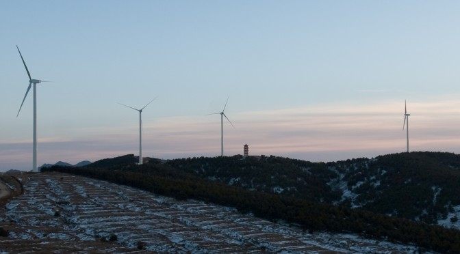 Wind power in China: Gamesa 50 wind turbines for a wind farm in Hebei province