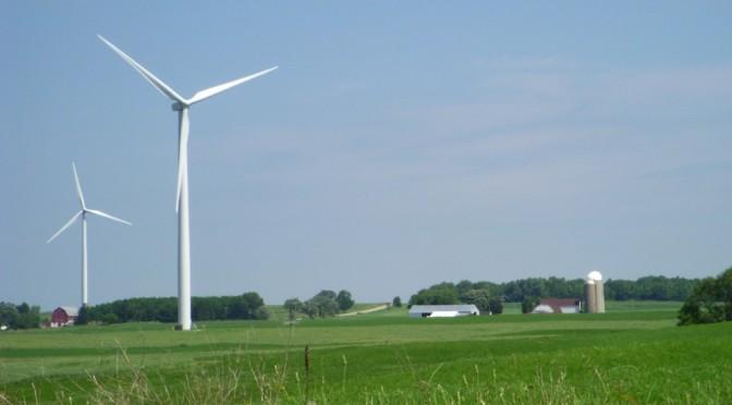 Wind farm in Wisconsin