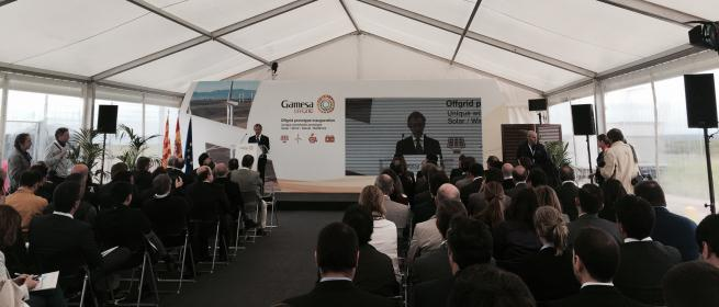 Gamesa finalises development of its offgrid system with the start-up of a storage battery at the prototype