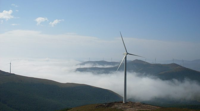 China's wind energy capacity increases
