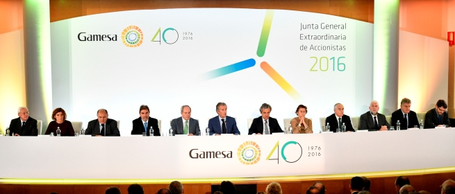 Gamesa shareholders ratify the merger with Siemens Wind Power
