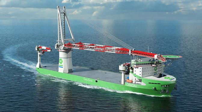 DEME orders next generation offshore installation vessel 'Orion'