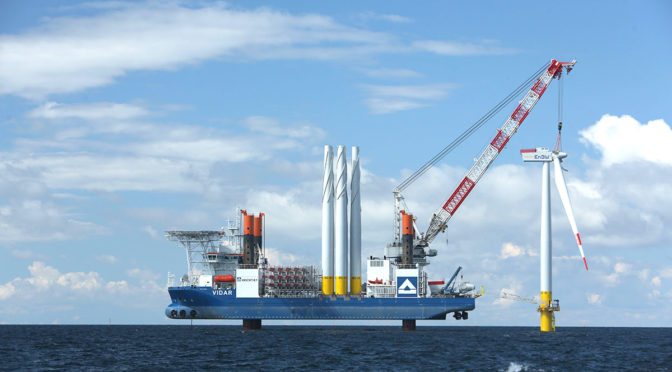 1.4 GW offshore wind energy announced in Germany with zero public financial support