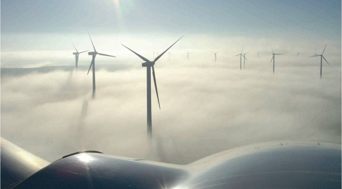 Installed wind energy capacity in Spain reached 21,673 MW in 2011