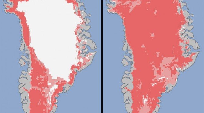Greenland's massive ice sheet melts