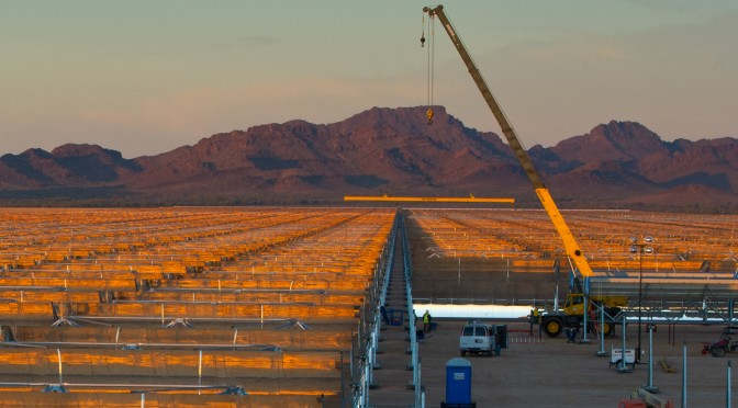 Abengoa´s CSP project Solana reaches 80 % completion