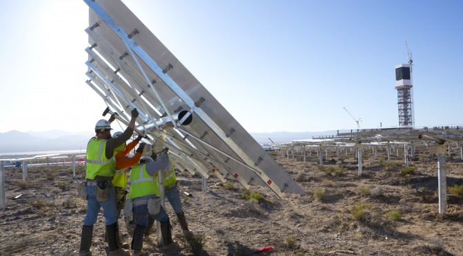 Ivanpah Concentrating Solar Power Plant Reaches Halfway Mark