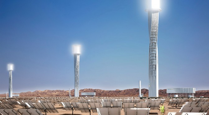 Ivanpah concentrating solar power project  is on-track to be complete in 2013