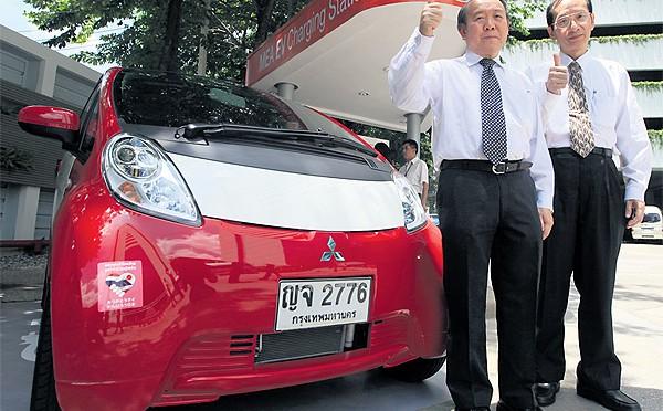 The electric car brigade in Bangkok