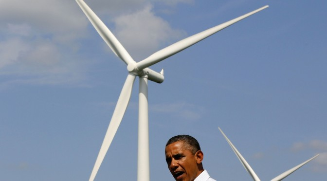 Obama calls on federal government to move to 20% renewables by 2020