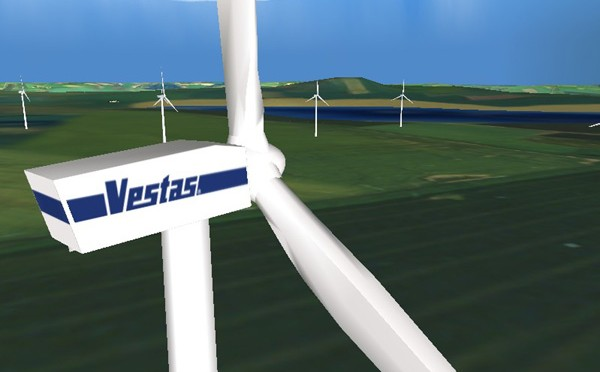 Vestas CEO Ditlev Engel discusses wind energy with Philippines President Benigno Aquino III