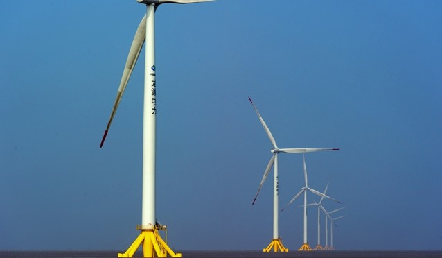 China's top coal producer China Shenhua Energy has started building its first offshore wind power plant