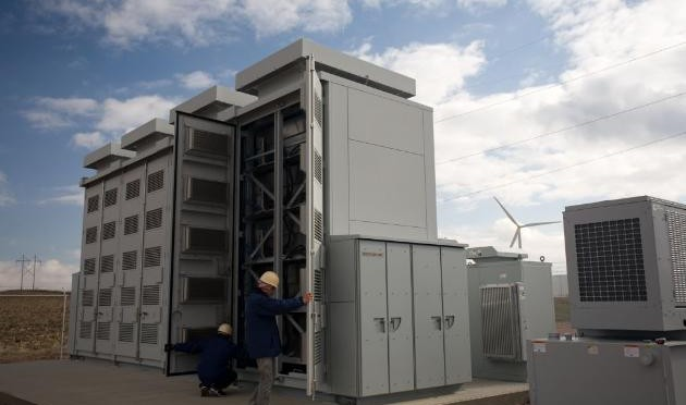 Wind energy battery going back online
