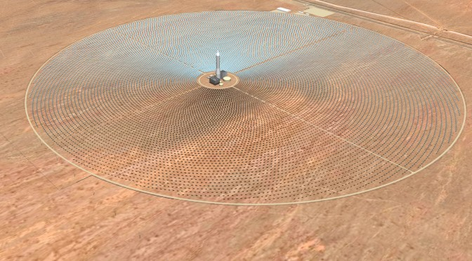 A Climb Up the SolarReserve Concentrated Solar Power Tower