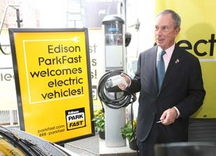 New York's Bloomberg Calls for More Electric Vehicle Charging