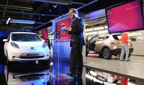 Nissan launches production of new and improved 100% electric car Nissan LEAF in Sunderland, UK