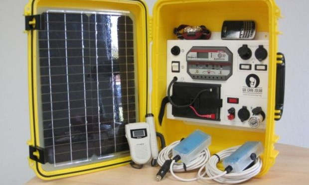 Solar energy suitcase helps save lives in developing world