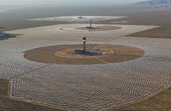Ivanpah Concentrating Solar Power Project Is More Than 92 Percent Complete