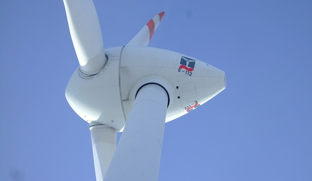 Wind energy in Ireland: new wind farm with wind turbines of Enercon