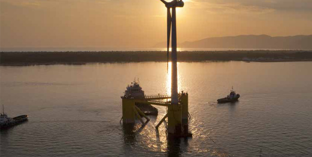 Offshore wind energy in deep waters opens up massive power potential