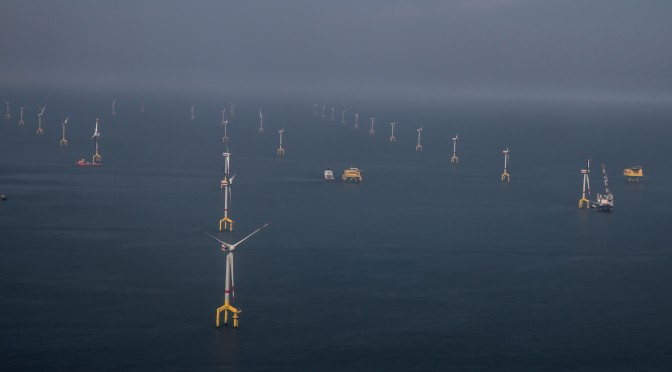 The German Federal Minister of Economics inaugurates the pioneering BARD Offshore 1 project off the North Sea coast