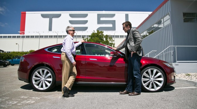 Tesla aims for massive lithium-ion battery production