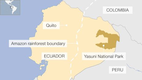 Ecuador approves Yasuni park oil drilling in the Amazon
