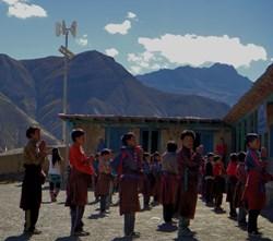 Wind energy helps power school in Nepal