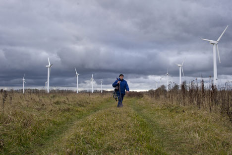 Wind energy in Russia: wind farm in the Arkhangelsk region