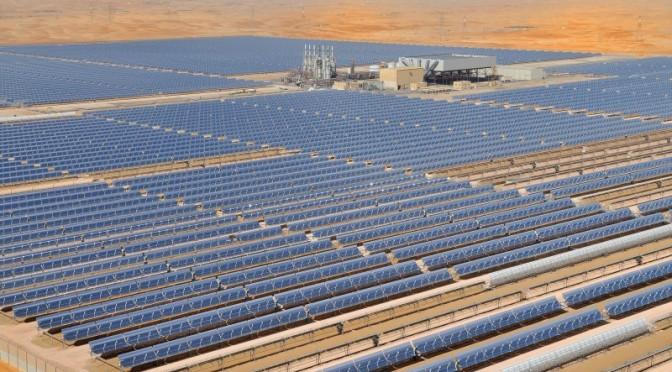 Shams 1 is the largest Concentrated Solar Power (CSP) plant in the MENA