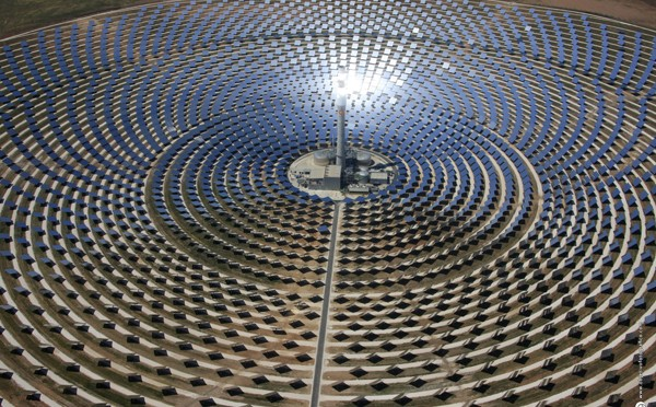 Concentrated Solar Power (CSP) Gemasolar setting of PlayStation