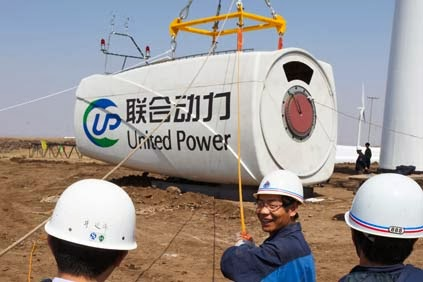 Tibet wind farm starts turning