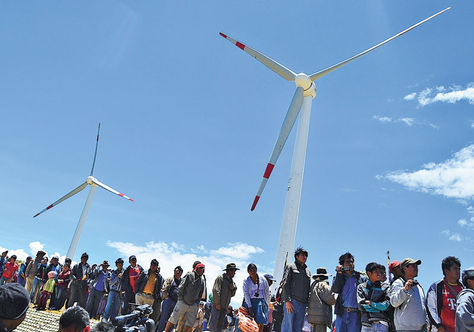 Bolivia opens first wind farm built by Chinese company