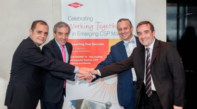 Acciona, SENER, TSK and Dow reinforce their commitment in Concentrated Solar Power (CSP)