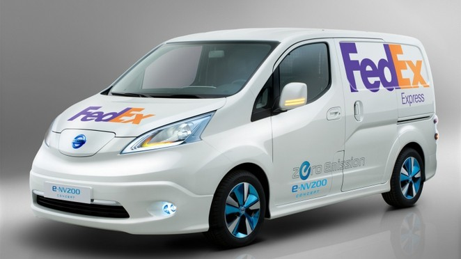 FedEx to test Nissan's electric e-NV200 delivery van in Washington DC area