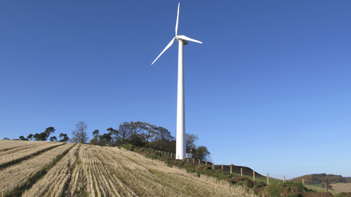 A wind power record for 2014, one Texas town's push for more wind, and a look at the world's biggest turbine