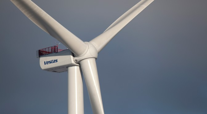 MHI Vestas Offshore Wind won an order for four 8-megawatt wind turbines for a wind power project in Denmark